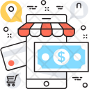 Mobile Banking Banknote Icon