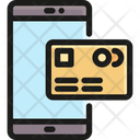 Mobile Banking Technology Credit Card Icon
