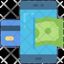 Mobile Banking Phone Finances Icon