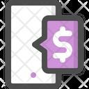 Mobile Banking Bank Dollar Icon
