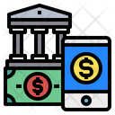 Money Mobilephone Bank Icon