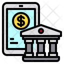Smartphone Banking Finance Icon
