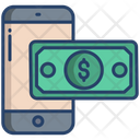 Mobile Banking Online Payment Digital Money Icon