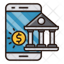 Mobile Banking Bank Icon