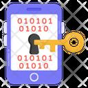 Phone Data Access Mobile Binary Access Data Encryption Icon