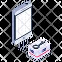 Mobile Binary Encryption Icon