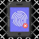 Biometric Error Mobile Biometric Error Biometric Cancel Icon