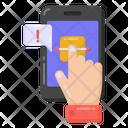 Fingerprint Error Fingerprint Alert Mobile Biometric Warning Icon
