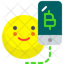 Mobile Bitcoin Bitcoin Crypto Icon