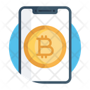 Mobile Bitcoin Mobile Btc Online Cryptocurrency Icon
