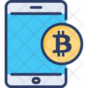 Mobile Bitcoin Smartphone Icon