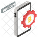 Mobile Bitcoin Bitcoin Automation Digital Currency Icon