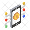 Mobile Bitcoin Mobile Payment Online Cryptocurrency Icon