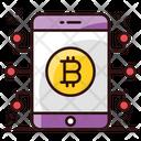 Mobile Bitcoin Bitcoin Trading Digital Money Icon