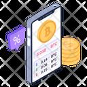 Mobile Bitcoin Mobile Crypto Mobile Cryptocurrency Icon