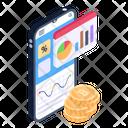 Blockchain Analytics Mobile Bitcoin Analytics Bitcoin Statistics Icon