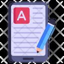 Mobile Blogging Icon