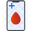 Mobile Blood App Online Blood Bank Blood Bank Icon
