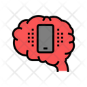 Mobile Phone Brain Icon