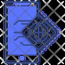 Mobile Browser Global Mobile Icon