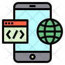 Mobile Web Globe Icon