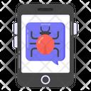 Mobile Virus Mobile Bug Phone Virus Icon