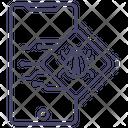 Mobile Bug Mobile Virus Mobile Malware Icon