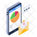Online Business Mail Mobile Business Mail Online Analytical Mail Icon
