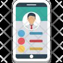 Mobile Call Person Identity Icon