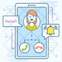 Mobile Call Mobile Communication Call Alert Icon