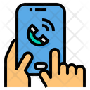 Mobile Shopping Call Assistant Icon