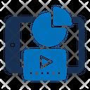 Mobile Chart Data Analysis Online Analytics Icon