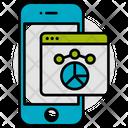 Mobile Chart Pie Icon