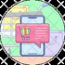 Mobile Chat Mobile Shopping Chat Shopping Chat Icon