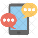 Mobile Chat Texting Icon