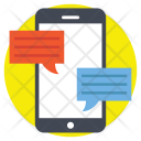 Mobile Chat Communication Icon