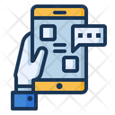 Mobile App Chatting Icon