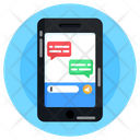 Online Chat Mobile Chat Mobile Conversation Icon