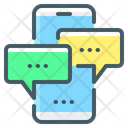 Mobile Chat Mobile Conversation Mobile Communication Icon