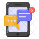 Mobile Chat Notice Mobile Chat Alert Message Notifications Icon