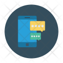 Mobile Chatting Bubble Chat Icon
