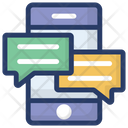 Mobile Chatting Mobile Message Text Message Icon