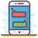 Mobile Chatting Mobile Messaging Sms Icon