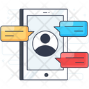 Mobile Chat Mobile Messaging Mobile Communication Icon