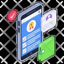 Online Checklist Mobile Checklist Mobile Survey Icon
