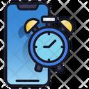 Mobile Clock Mobile Time Icon