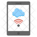 Mobile Cloud Technology Icon
