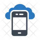 Mobile Cloud Database Icon