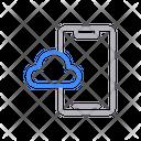 Mobile Cloud Storage Icon