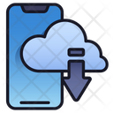 Mobile Cloud Network Storage Icon